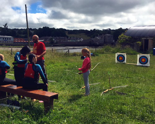 Archery and axe throwing session